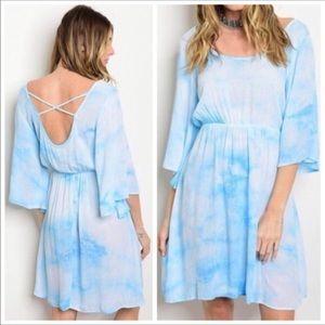 💃Brooke Tie Dye Blue Dress